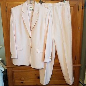 TALBOTS Vintage Pastel Pink Wool Pant Suit - USA